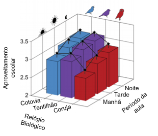 gráfico aproveitamento escolar